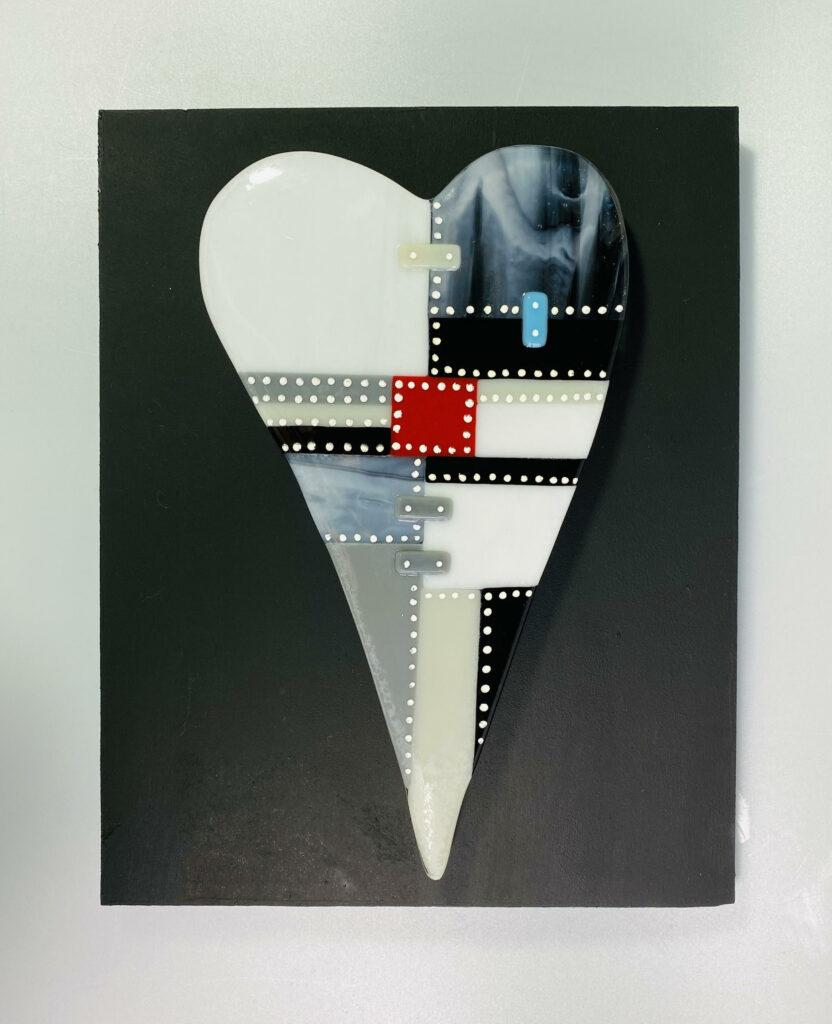 Patchwork heart – mono