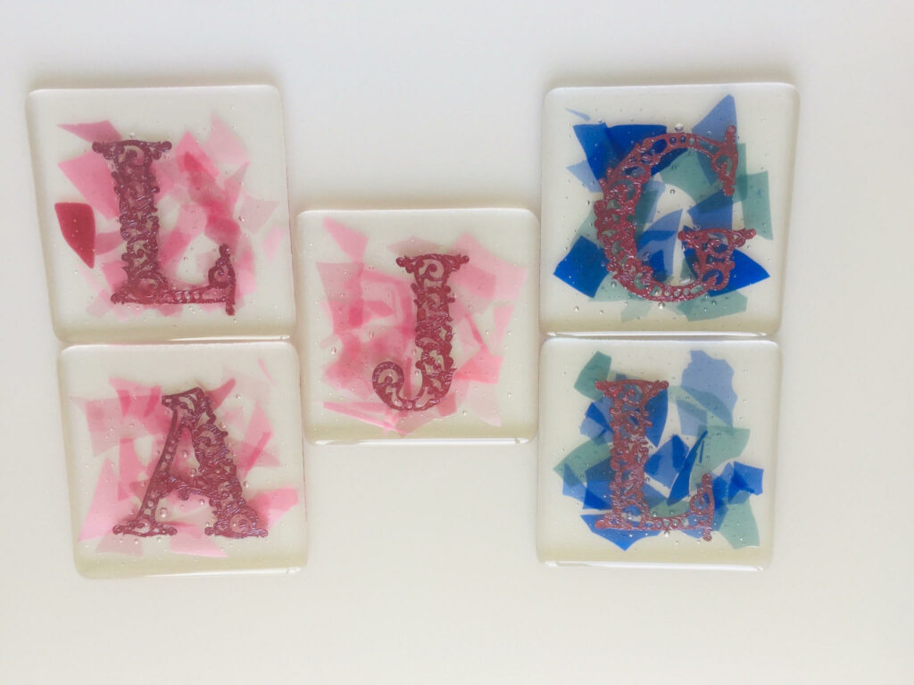 Initialled coaster